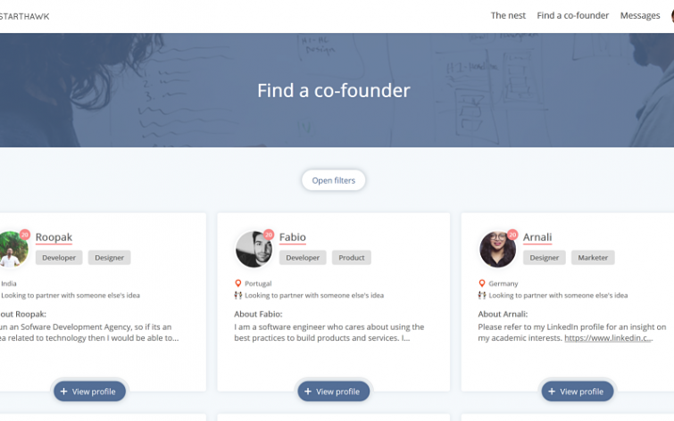 StartHawk Making it Easier for Founders to Meet Co-founders